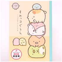 San X Notepad Drawing Book Sumikkogurashi Stacked Animals
