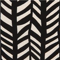black with natural color rectangular shape canvas fabric from japan