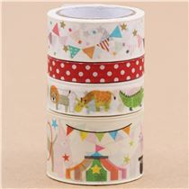 cute craft tape set circus tent animal dot from Japan & cute craft tape set circus tent animal dot from Japan - Deco Tape ...