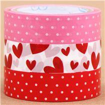Set nastri adesivi decorativi bianchi rossi rosa pois - Nastri decorativi natalizi ...