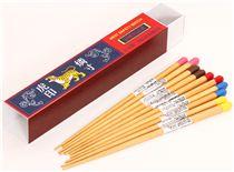 Set 5 bacchette in legno fiammifero tigre giappone - Porta pranzo tiger ...