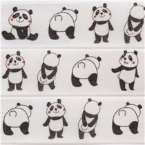 Ruban adhésif déco en papier blanc avec des pandas, par Prime Nakamura