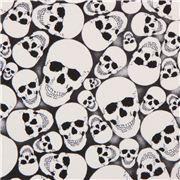 black white glow in the dark skull fabric glow skulls