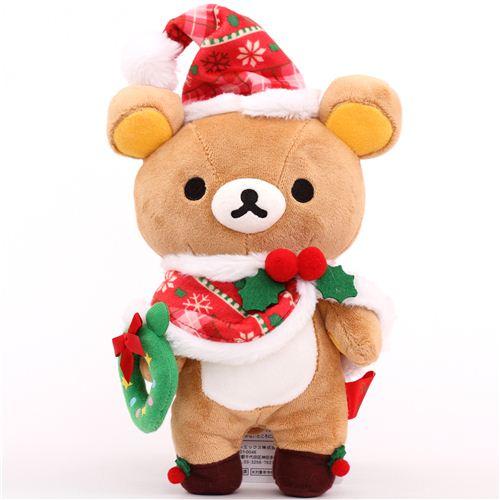 rilakkuma brown bear santa claus xmas plush toy san x japan - Christmas Plush Toys