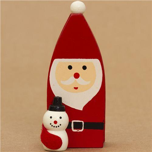 cute santa claus with snowman christmas card holder - Snowman Christmas Cards