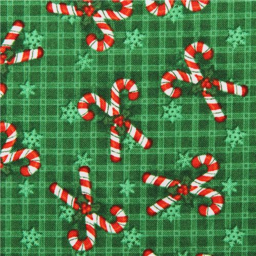 green candy cane christmas fabric believe - Candy Cane Christmas Shop