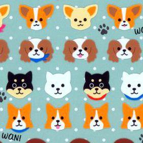 Image of: Chibi Kawaii Animals Dog Puppy Stickers By Mind Wave Animal Stickers Dhgatecom Cute Animal Stickers Cute Animal Stickers Etsy Kitty Cat
